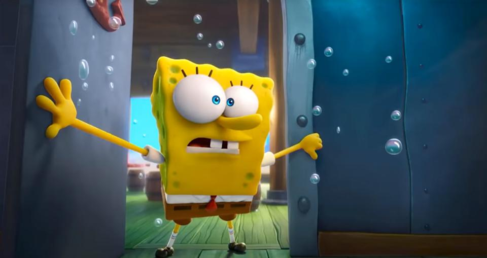 SpongeBob Squarepants in his latest big-screen feature, 'Sponge on the Run' (Photo: Paramount Pictures / Courtesy Everett Collection)