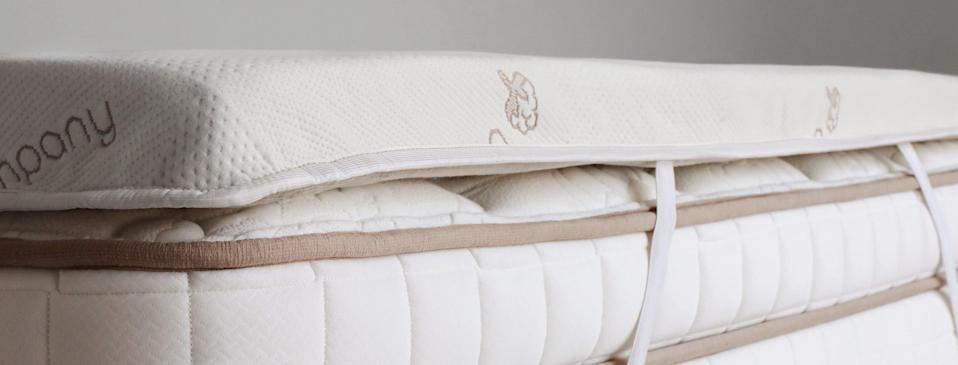 """<h3>Saatva Mattress Topper</h3><br><strong>Best For:</strong> <strong>Customizable Sleep</strong><br>Saatva's premium, three-inch toppers are available in three material options for different sleep styles: graphite for hot sleepers who want to temperature regulation; latex for sleepers looking for sustainably made body support; or performance foam for sleepers in need of contoured pressure relief. <br><br><strong>The Hype: 5 out of 5 stars</strong><br><br><strong>Sleepers Say:</strong> """"Best in the market — totally worth paying the extra for this mattress pad. It's comfortable, doesn't need shaking, and is perfect for a hard mattress."""" <em>– Sally, Saatva Reviewer</em><br><br><em>Shop </em><a href=""""https://www.saatva.com/bedding/mattress-topper"""" rel=""""nofollow noopener"""" target=""""_blank"""" data-ylk=""""slk:Saatva"""" class=""""link rapid-noclick-resp""""><strong><em>Saatva</em></strong></a><br><br><strong>Saatva</strong> Saatva Mattress Toppers, $, available at <a href=""""https://go.skimresources.com/?id=30283X879131&url=https%3A%2F%2Fwww.saatva.com%2Fbedding%2Fmattress-topper"""" rel=""""nofollow noopener"""" target=""""_blank"""" data-ylk=""""slk:Saatva"""" class=""""link rapid-noclick-resp"""">Saatva</a>"""