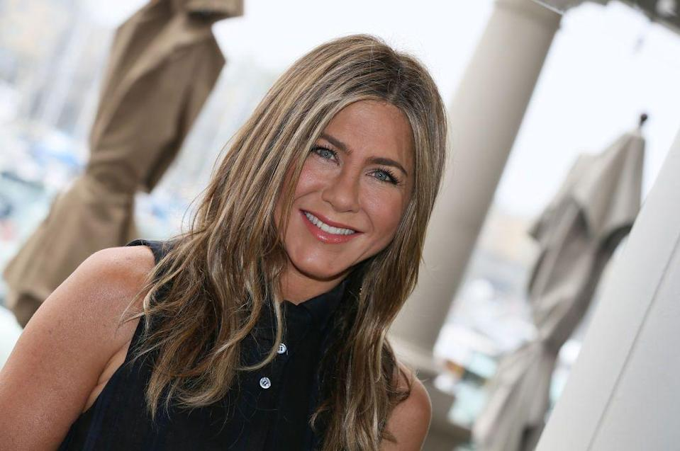"""<p>Don't freak out, but Aniston is definitely back in the dating game, reports <em><a href=""""https://www.etonline.com/jennifer-aniston-is-casually-dating-again-and-continues-to-stay-in-touch-with-ex-brad-pitt-source"""" rel=""""nofollow noopener"""" target=""""_blank"""" data-ylk=""""slk:ET"""" class=""""link rapid-noclick-resp"""">ET</a></em>. Her <em>Friends</em> co-stars encouraged her to get back in the saddle, so she's been casually treading the waters. Also, she's still in contact with Pitt, a source told the outlet, and they talk occasionally. </p>"""