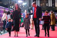 <p>Oh yes he did - the family outing to the panto was to thank key workers and their families in December 2020. (Aaron Chow/AFP)</p>
