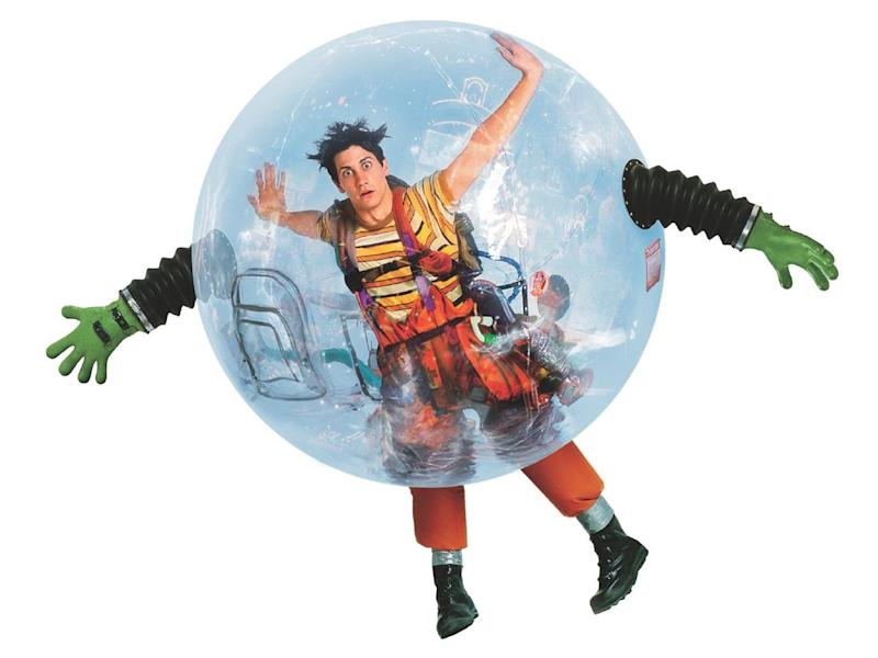 (Not) a star-making vehicle: Jake Gyllenhaal in the original poster artwork for 'Bubble Boy': Disney