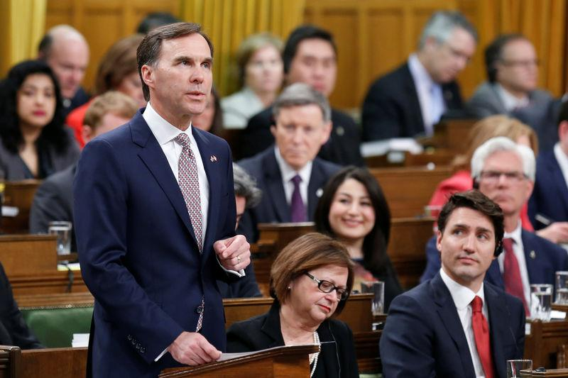Canada's Finance Minister Morneau delivers the federal budget in the House of Commons on Parliament Hill in Ottawa