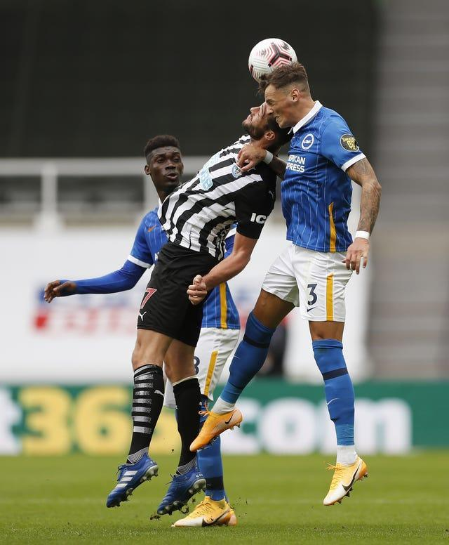 Yves Bissouma, left, and Ben White, right, have caught the eye playing for Brighton