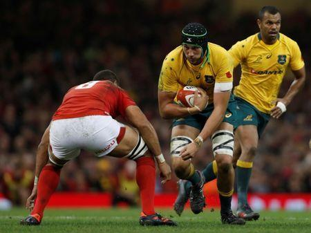 FILE PHOTO: Rugby Union - Autumn Internationals - Wales vs Australia - Principality Stadium, Cardiff, Britain - November 11, 2017 Australia's Adam Coleman in action Action Images via Reuters/Paul Childs