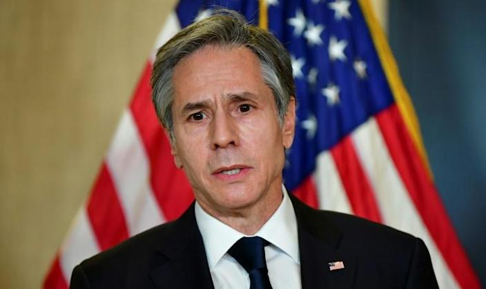US Secretary of State Antony Blinken, seen in March 2021 following talks in Alaska with top Chinese officials, has pleaded for more support for Syrians