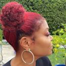 """<p>Several of the pros we asked are seeing red for fall 2020 — <a href=""""https://www.allure.com/gallery/most-flattering-red-hair-colors-for-every-skin-tone?mbid=synd_yahoo_rss"""" rel=""""nofollow noopener"""" target=""""_blank"""" data-ylk=""""slk:red hair"""" class=""""link rapid-noclick-resp"""">red hair</a>, that is. """"There is a shade of red out there for almost everyone,"""" says New York-based colorist Rachel Bodt. """"It's all about the tone."""" Taraji P. Henson dyed her hair red a few months back, and has been wearing it natural as well as adding extensions in the forms of twists and, as you see above, these space buns. </p> <p>""""The best way to maintain color during this season is to nourish and moisturize, then moisturize some more,"""" adds hairstylist and African Pride Ambassador Kee Taylor. """"It's best to use shampoos and conditioners that don't strip your hair and have nourishing, hydrating properties. Some of my favorites are <a href=""""https://shop-links.co/1718470050988177216"""" rel=""""nofollow noopener"""" target=""""_blank"""" data-ylk=""""slk:African Pride, Moisture Miracle, Honey and Coconut Shampoo"""" class=""""link rapid-noclick-resp"""">African Pride, Moisture Miracle, Honey and Coconut Shampoo</a>, along with Deeper Than Hair salon's <a href=""""https://shop-links.co/1718470107487049445"""" rel=""""nofollow noopener"""" target=""""_blank"""" data-ylk=""""slk:First Class to Morocco Conditioner"""" class=""""link rapid-noclick-resp"""">First Class to Morocco Conditioner</a>.""""</p>"""