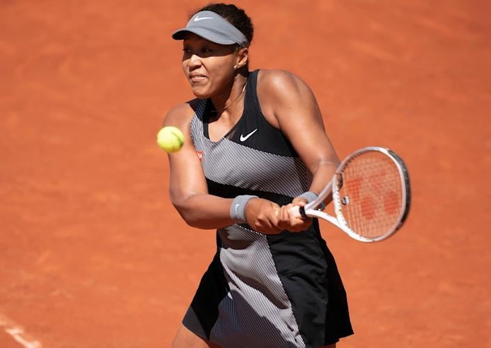Naomi Osaka played her first-round match at the French Open on Sunday before announcing her withdrawal from the tournament on Monday.