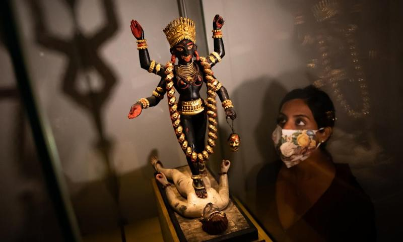 Tantra at the British Museum review – acrobatic lovers and human skulls