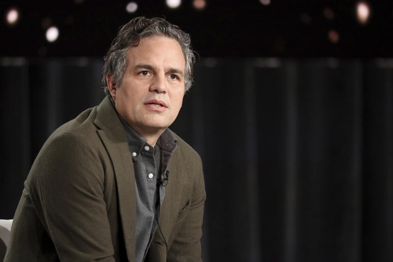 "Mark Ruffalo appears at the ""I Know This Much is True"" panel during the HBO TCA 2020 Winter Press Tour at the Langham Huntington on Wednesday, Jan. 15, 2020, in Pasadena, Calif. (Photo by Willy Sanjuan/Invision/AP)"