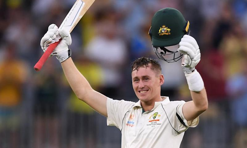 Marnus Labuschagne after scoring a century
