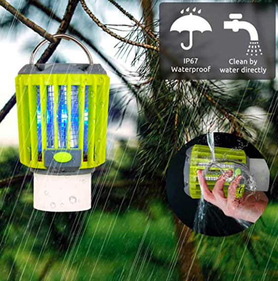 Bug Zapper & LED Camping Lantern & Flashlight 3-in-1, Waterproof, S$55.80. PHOTO: Amazon