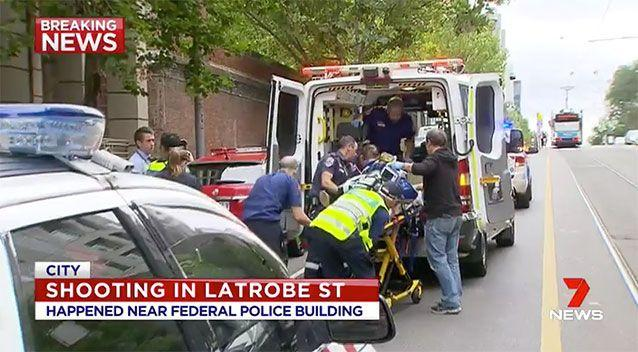 The Australian Federal Police have confirmed a shooting happened in its Melbourne headquarters. Source: 7 News