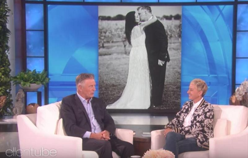 Speaking on The Ellen Show, the 59-year-old actor, who has been married to Hilaria, 26 years his junior, for five years, explained he needs to keep the surprises coming so his stunning wife doesn't even contemplate leaving him. Source: The Ellen Show