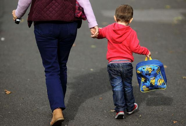 Getting the kids to school,is a stressful start to the day, a survey has found (PA)