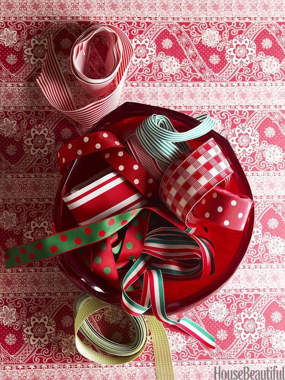 <p>Why choose one solid color when there are plenty of vibrant patterns to choose from? Consider polka dots, stripes, plaid, gingham, and more.</p>