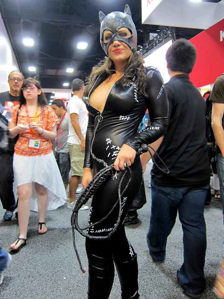 Rawwrrr. Don't cross this Catwoman - San Diego Comic-Con 2012