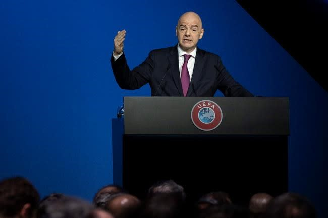 Infantino urges Italy to allow fans back in soccer stadiums