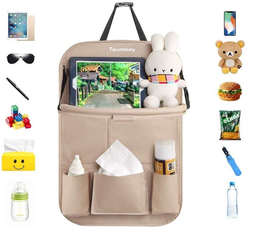 Tsumbay Car Organizer has room for toys, drinks, snacks, and more. Image via Amazon.