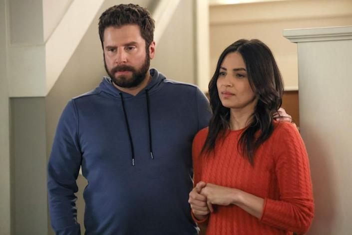 """James Roday Rodriguez and Floriana Lima in """"A Million Little Things"""" on ABC."""