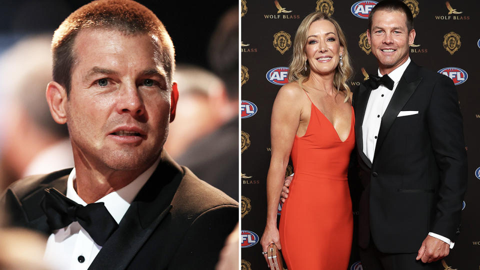 Ben Cousins, pictured here at the Brownlow Medal ceremony with Kellye Fergus.