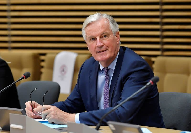 EU's Barnier calls British financial market proposals 'unacceptable'