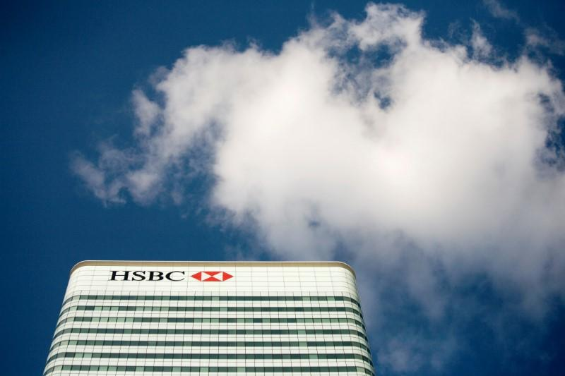FILE PHOTO: The HSBC building is seen in Canary Wharf, London