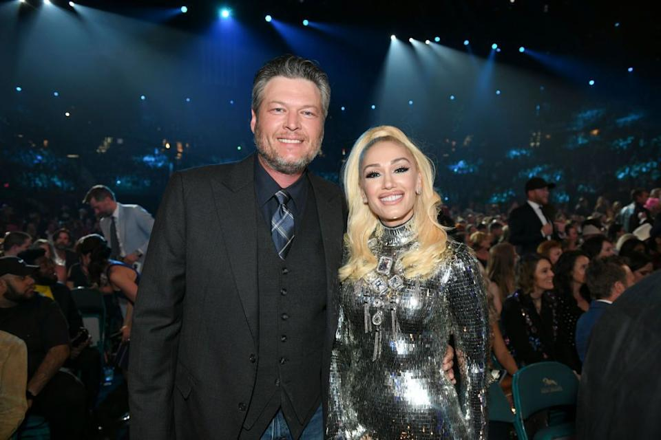 Blake Shelton and Gwen Stefani attend the 54th Academy of Country Music Awards on April 7, 2019, at MGM Grand Garden Arena in Las Vegas. (Photo: Sam Morris/CBS via Getty Images)
