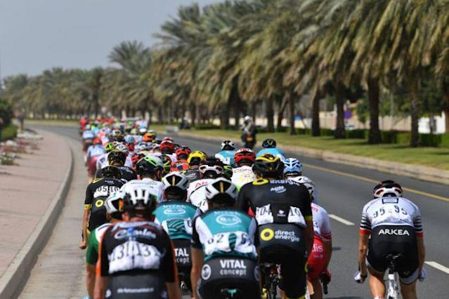 Riders at the 2019 Tour of Oman, which in 2020 takes place just a few days after the conclusion of the new Saudi Tour