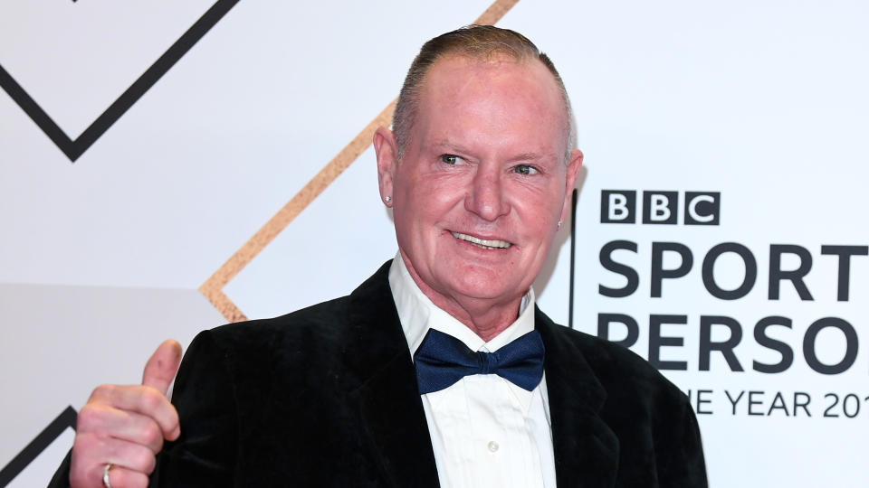 Paul Gascoigne attends the BBC Sport Personality of the Year 2019. (Photo by Karwai Tang/WireImage)