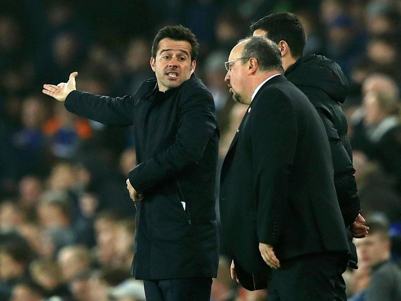 Silva could not hide his frustration on the touchline as Everton toiled against Newcastle (Getty Images)