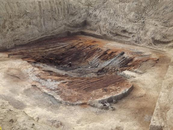 Here, the roof of a 4,000-year-old burial chamber buried in a Kurgan (mound) in the country of Georgia.