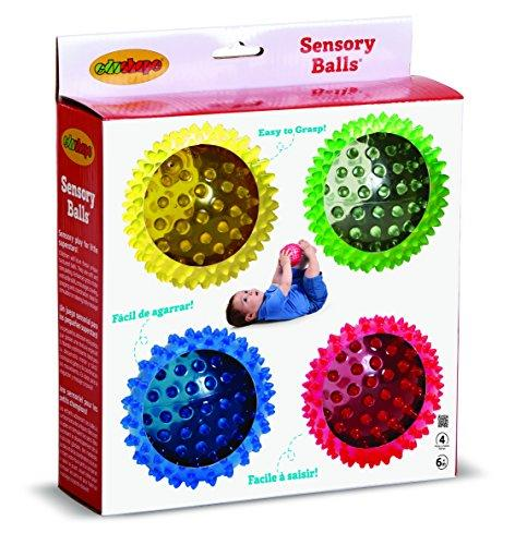 Edushape See-Me Sensory Balls, 4 Inch, Translucent, 4 Ball Set (Amazon / Amazon)