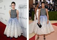 <p>This beautiful Giambattista Valli was worn first by Alison and spotted on Adriana at the Met Gala 2016 just two weeks later.<i> [Photo: Getty]</i></p>