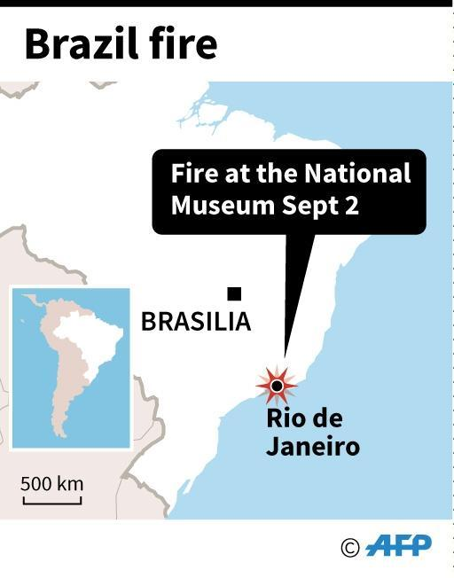 Map showing the location of the fire (AFP Photo/AFP )