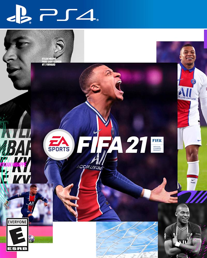 EMBED ONLY FIFA 21 standard cover Kylian Mbappe