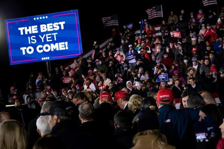 Trump wrapped up his campaign with a late-night rally in the swing state of Michigan