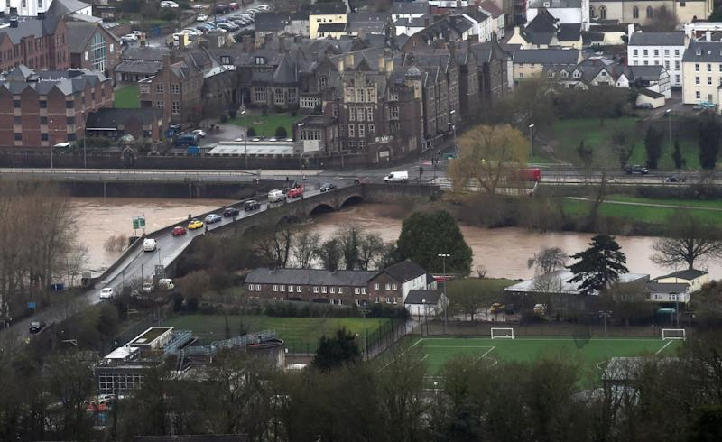 Storm Dennis has caused severe flooding to the Monmouth area of South Wales (REUTERS)