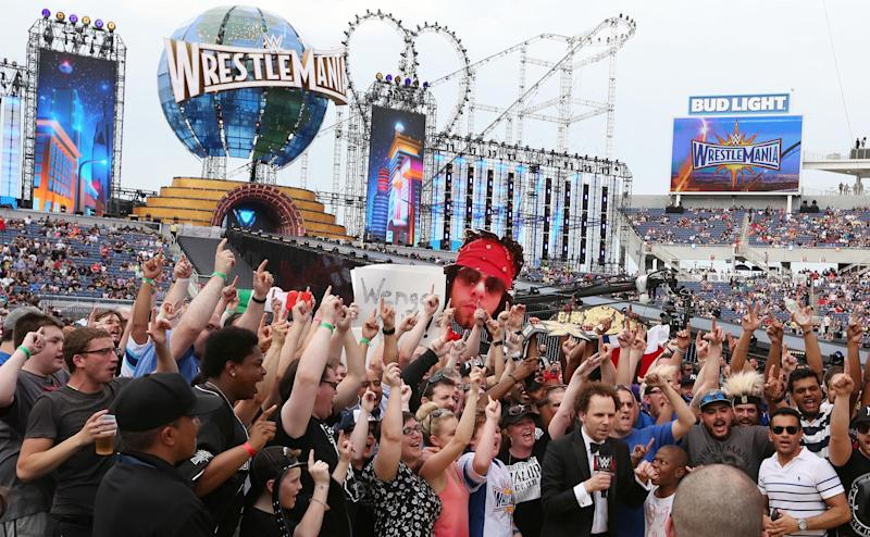 Fans cheer during WrestleMania 33 on Sunday, April 2, 2017 at Camping World Stadium in Orlando, Fla. (Stephen M. Dowell/Orlando Sentinel/TNS via Getty Images)