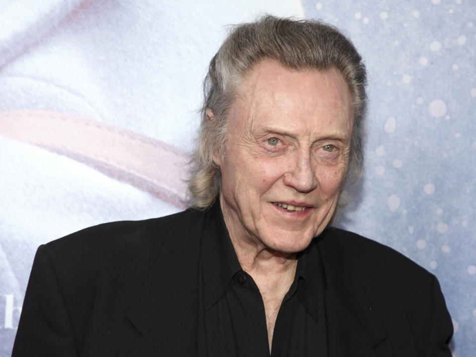 """Christopher Walken attends the special screening of """"Irreplaceable You"""" at Metrograph on Thursday, Feb. 8, 2018, in New York. (Photo by Andy Kropa/Invision/AP)"""