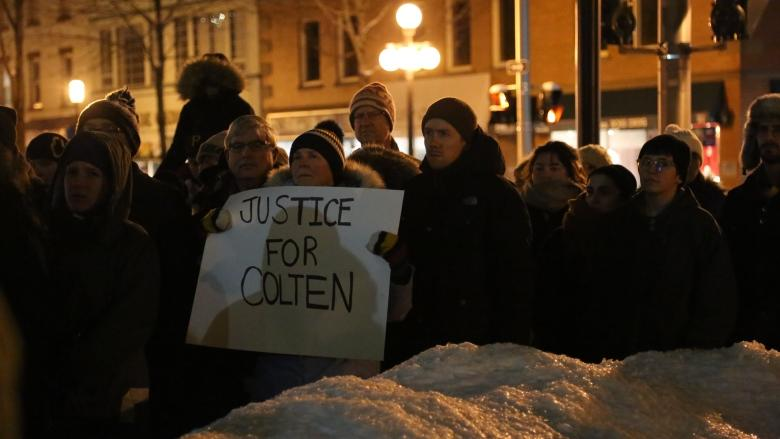 Protesters decry 'racism, plain and simple' in Colten Boushie case