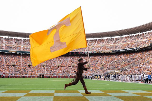 Tennessee will allow residents who evacuated from North and South Carolina due to Hurricane Florence to attend its game in Knoxville on Saturday against UTEP for free. (Getty Images)