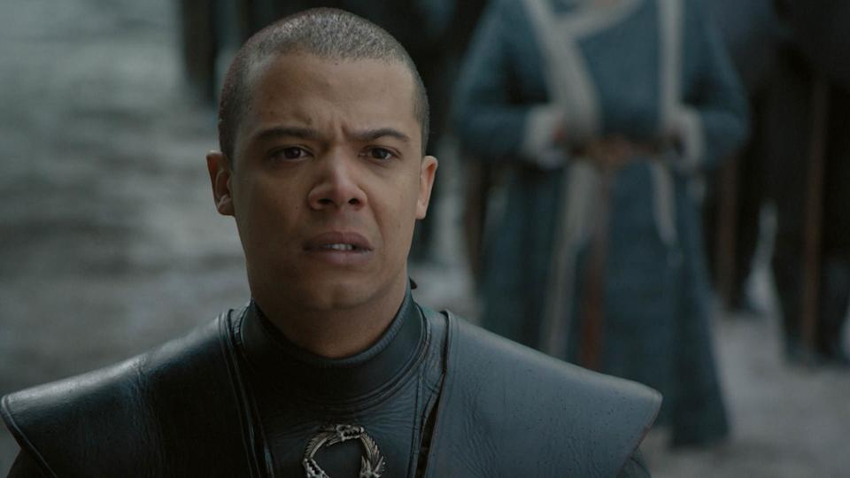 Grey Worm (Jacob Anderson) is over all this nonsense about Jon being pardoned after killing Daenerys. He takes the Unsullied and sets sail for Missandei's (Nathalie Emmanuel) old hometown, Naath.<br /><br />But, since Martin's books say there could be some deadly butterflies there, our guy should probably pack some bug spray.