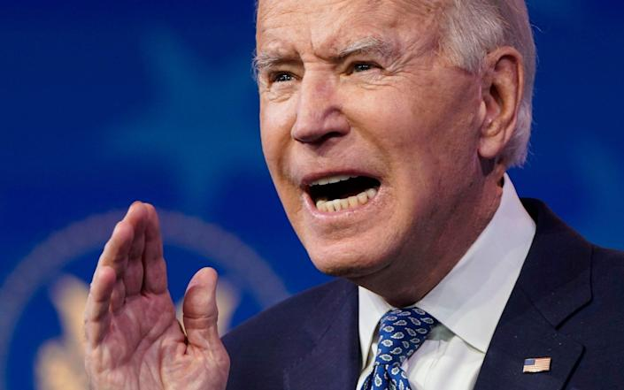"""Joe Biden said: """"I promise you there will be a response"""" - GETTY IMAGES"""