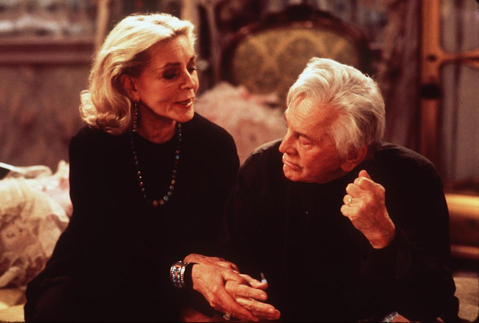 "1999 Lauren Bacall and Kirk Douglas star in ""Diamonds."" Photo Miramax"