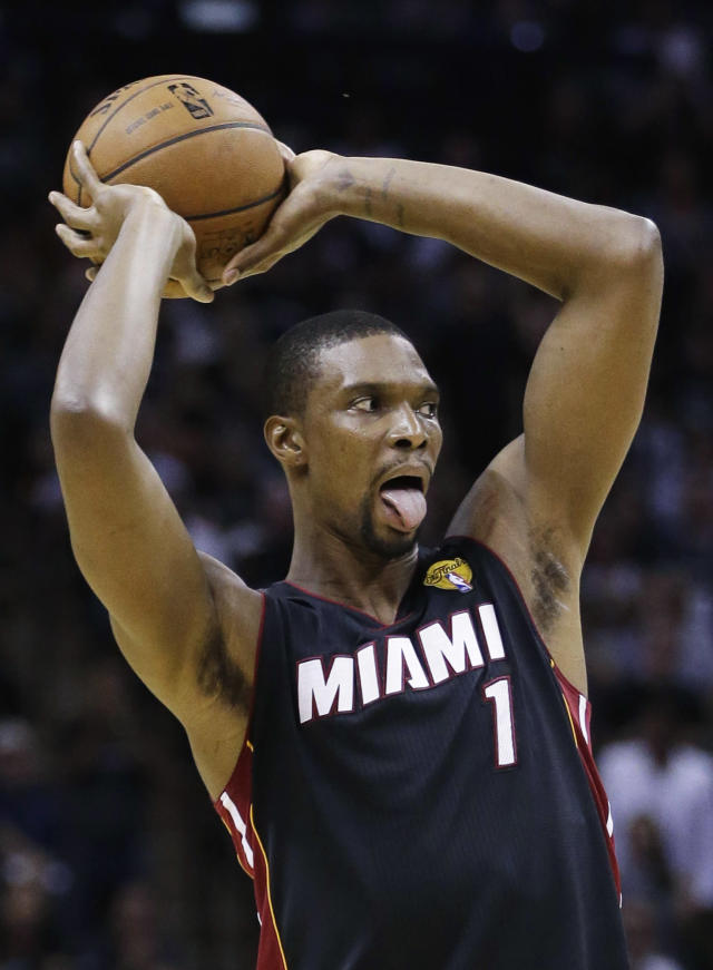 Chris Bosh says he is confident the Heat's 'Big Three' will remain intact. (AP Photo)