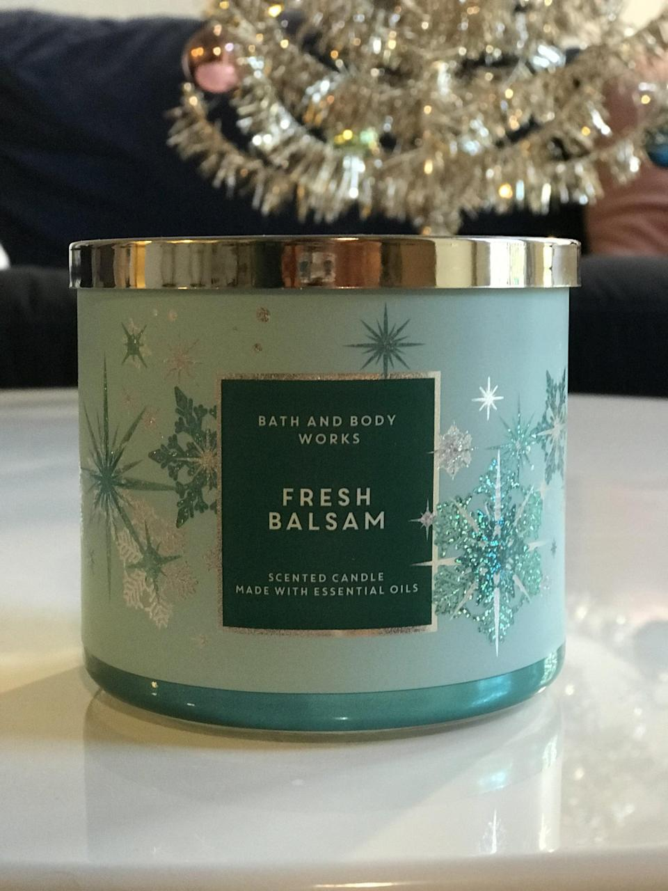<p><span>Fresh Balsam 3-Wick Candle</span> ($15, originally $25)</p> <p><strong>What It Smells Like:</strong> The most realist forest smell my nostrils have ever experienced.</p>