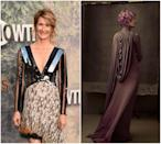 """<p><b>When: Tweeted May 24, 2017</b><br>""""Star Wars"""" fans finally got a sneak peak as to how Laura Dern's hair will appear for """"Star Wars: The Last Jedi."""" <i>Vanity Fair</i> writer Joanna Robinson shared a behind-the-scenes pic of the magazine's """"Star Wars"""" cover shoot, showing Dern with short, chin-length curly, purple-hued hair. Dern, 50, will be playing the role of Vice Admiral Holdo, an officer in the resistance. Are you loving the purple or do you prefer Dern's natural blonde highlights? <i> (Photos: Getty (L)/Vanity Fair (via Twitter) (R)</i> </p>"""