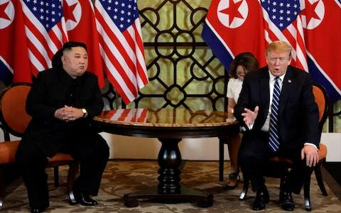 The Hanoi summit started out well but ended abruptly with no deal - Credit: Evan Vucci/AP