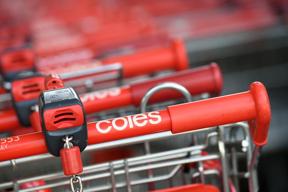 Coles shopping  trolleys. South Australia was the best state for recycling in Coles. Source: AAP