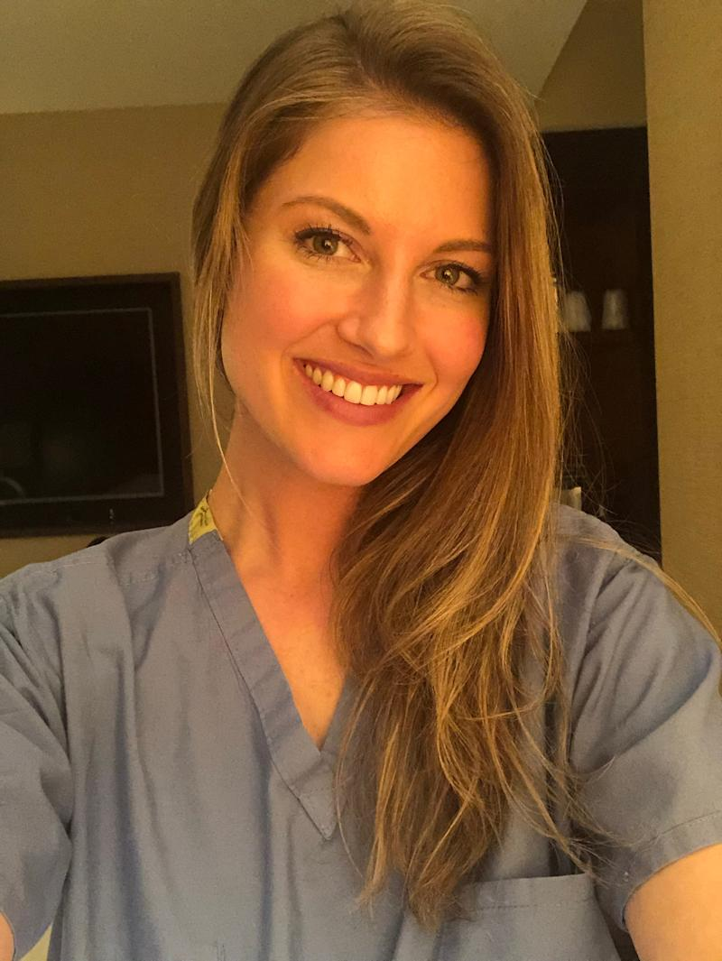 Janelle Engström Orbon, a critical care nurse, has been an acute care nurse for 8 years. She recently returned to New York Presbyterian Hospital.